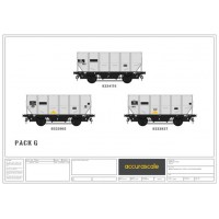 BR 24.5-ton  HUO 1965 Grey Tops hopper wagon -Pack G