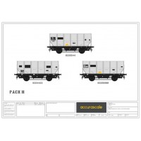 BR 24.5-ton  HUO 1965 Grey Tops hopper wagon -Pack H