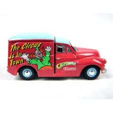 Oxford Diecast  Chipperfield Morris Minor Clown Van - 1:76 Scale