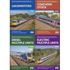 Platform 5 2020 set of Four Pocket Books - Loco, Coaches, DMU & EMU