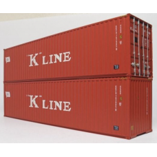 K Line 40ft High Cube Container - Pair