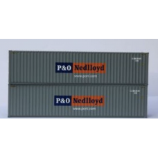 Hi-Cube 40ft Container P & O Nedloyd livery - Pair