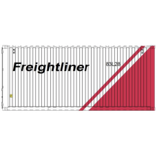 CR - Freightliner (White-Red Flash) 20FT Container - per pair (2)