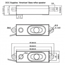 Loksound V4 compatible Bass reflex 'Super Slim' speaker.